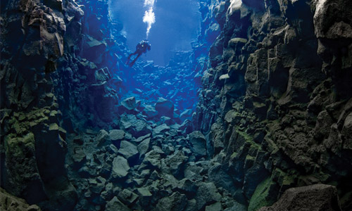 Winter Diving in the Silfra Crack