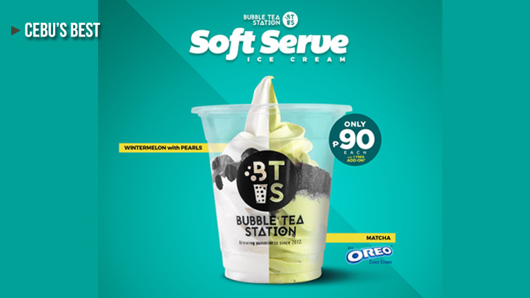 The Bubble Tea Station (BTS) Now Offers Soft Serve Ice Cream!