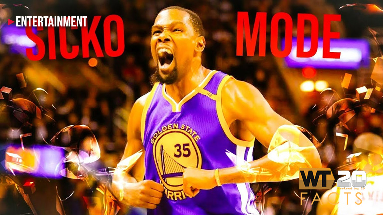 "Kevin Durant shaped this weekend's no. 1 hit ""Sicko Mode"""